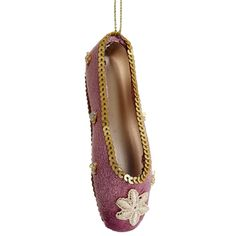 """Allstate 4.5"""" Fashion Avenue Pink and Gold Ballerina Ballet Slipper Christmas Ornament at Sears.com"""