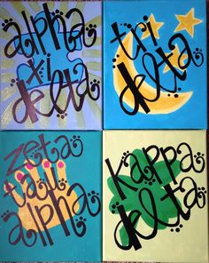 Sorority HandPainted Canvas by GreekCanvases on Etsy, $17.50