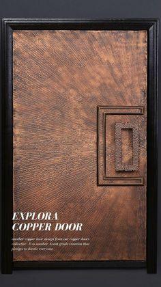 Modern Front Door, Front Door Design, Front Door Decor, Avant Grade, Composite Door, Handmade Copper, Entrance Doors, Design Crafts, Bespoke