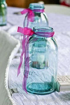To hold my bouquet and my maid of honor's once at head table.