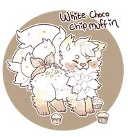 White Choco Chip Muffin Sushi Dog by witchpaws