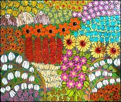 Spring Feast a mosaic by Leena Nio