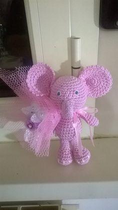 Elefantino rosa all'uncinetto di Manimagiche su Etsy