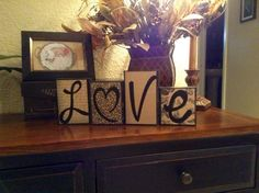 Love / Decorative Block Letters / Home Decor by NicsLoveLetters, $20.00
