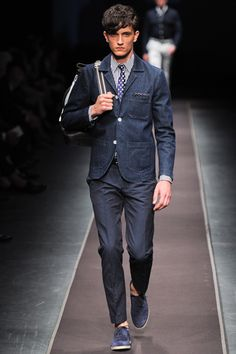 Canali Spring 2014 Menswear Collection Slideshow on Style.com