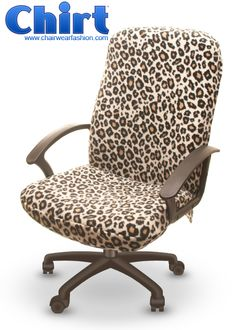 My next office chair - Wild Leopard Chirt™ - Office Chair Cover | ChairWear Fashion™