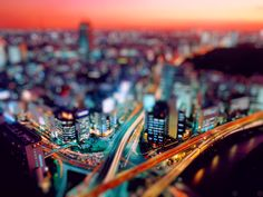 Here it is a great tilt shift photography example!