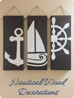 Use Stencils to Make Nautical Wood Decor by Do It With Heart