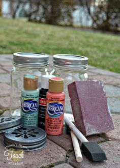 DIY Vintage Mason Jar Vases {Tutorial}