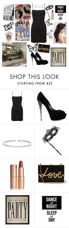 """""""Casual party girl 🎂💄"""" by eliskiku ❤ liked on Polyvore featuring Reformation, Casadei, Suzanne Kalan, Masquerade, Charlotte Tilbury, Lanvin, Hatcher & Ethan and Native State"""