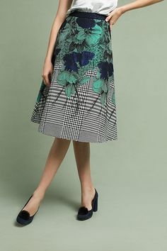 6a52a8fdb4 Slide View: 4: Floral Jacquard Skirt Eva Franco, Anthropologie, Midi Skirt,