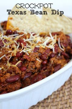 Crockpot Texas Bean Dip