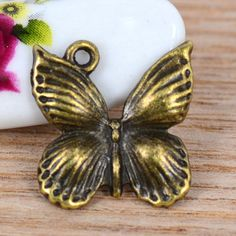 30pcs ancient bronze tone mini Butterfly finding by beadsmall