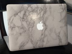 White Marble Laptop Decal for MacBook – Marble MacBook Decals