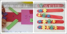 movable robot craft and counting with robots are 2 robot activities kids are sure to love