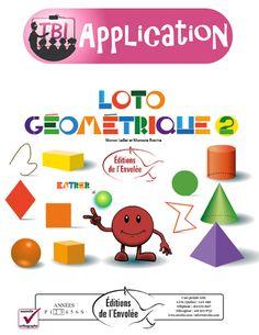 Loto géométrique 2 - Ce jeu de loto géométrique s'adresse aux élèves des 2e et 3e cycles du primaire. Il permet d'apprendre les principales notions de géométrie. En plus de revoir les couleurs, l'élève se familiarise avec le vocabulaire géométrique approprié : polygones, figures géométriques, corps ronds, angles, lignes diverses, etc.