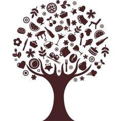 Vinilo decorativo de cocina (árbol):