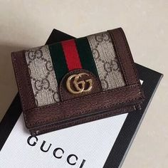 a7362fd6d7a Gucci Ophidia GG Card Case 523155 Brown 2018