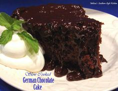There's nothing like slow cooker gooey chocolate cake to finish off a satisfying meal, and this slow cooker chocolate cake recipe for Slow Cooked Fudgy German Chocolate Cake will not disappoint.