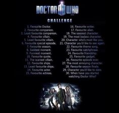 The Doctor Who Challenge. #twitter #Facebook