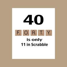 40. Geburtstagskarte 40. Geburtstag runder von DaizyBlueDesigns