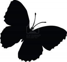 Schmetterling silhouette - vector Stockfoto - 5157829