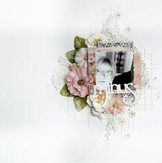 DT for Pyssloteket #pysslotket #scrapbooking #scrapbookinglayout #cleanandsimplemixedmedia #primaflowers #primapaper