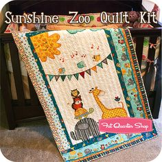 Sunshine Zoo Quilt Kit Featuring Sunshine Zoo by Jo Moulton - Fat Quarter Shop
