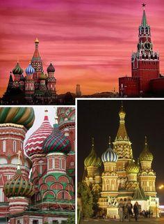 St. Basil's Cathedral, Moscú, Rusia. Uno de los últimos lugares para visitar por su belleza arquitectónica inigualable.