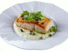 Pan-Roasted Salmon with Fennel Puree recipe from Giada De Laurentiis via Food Network