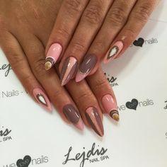 Dość rutyny na paznokciach! Doskonałe połączenie kolorów i wzorów  SPN UV LaQ 595 Undressed (link: http://bit.ly/1QGzypZ), 581 Lobster (link: http://bit.ly/1MwZqzu) Nails by Alesia, Salon Lejdis, SPN Team  #SPNTeam #SPnnails #nails #inspiracje #inspirations #glamour #nudenails #pinknails #rosenails #nailart #nailsart