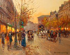 Edouard Cortes, Rue de la Madeleine au Crepuscule