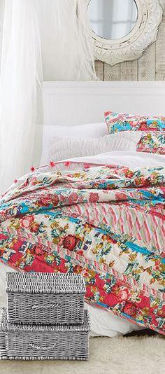 Floral Ribbon Girls Bedding