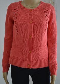 Gilet Comptoir des Cotonniers corail coton, manches longues, encolure ronde…