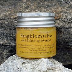 Økologisk ringblomsalve 50 ml Coconut Oil, Jar, Food, Lavender, Meal, Essen, Jars, Hoods, Meals