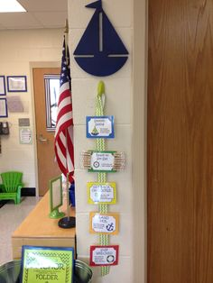 Klassenraum Barometer, Klassenraum Deko, My nautical kindergarten classroom! Nautical behavior chart I made Classroom Decor Themes, Classroom Design, Classroom Organization, Classroom Ideas, Classroom Images, Classroom Management, Classroom Behavior, Kindergarten Classroom, School Classroom