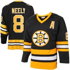 5be9325d6 Mens Boston Bruins Cam Neely Mitchell   Ness Black Throwback Authentic Vintage  Jersey. National Hockey ...