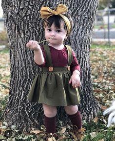 Daphne Pleated Suspender Skirt - Hunter -