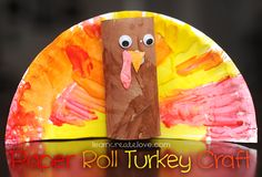 Paper Roll Turkey Craft - this would make a great centerpiece of napkin holder!