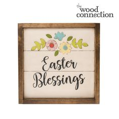 Easter Blessings Plank Sign - The Wood Connection