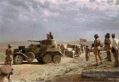 A British Army supply convoy with a Soviet armoured vehicle escort in Iran, September 1941 Military Photos, Military History, North African Campaign, British Armed Forces, Soviet Army, Ww2 Tanks, Armored Vehicles, Armored Car, Historia