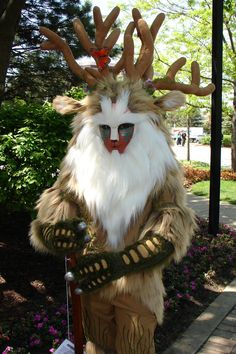 Ghibli cosplay princess mononoke-The Forest Spirit Comic Con Costumes, Cosplay Costumes, Halloween Costumes, Amazing Cosplay, Best Cosplay, Miyazaki, Totoro, Gorillaz, Mononoke Cosplay