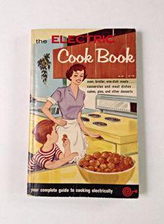 Electric Cookbook. 1959 Vintage Cookbook Collectors. Yellow appliances