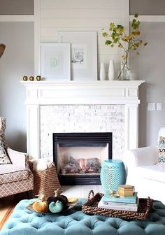If you're lucky enough to have a fireplace in your home, you should draw attention to it with great decor! I love fireplaces for the warmth they provide in the winter, but I also love their charm...