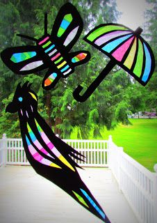 Learn To Grow: Suncatcher Tissue Paper Craft...Stained Glass Tissue Paper Craft