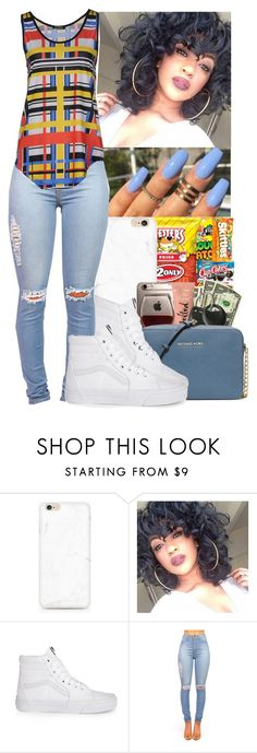 """""""Jacquees~IDGAF"""" by jasmine1164 ❤ liked on Polyvore featuring Vans and Balmain"""
