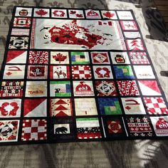 Canada 150 loved coming up with blocks Canadian Quilts, I Am Canadian, Panel Quilts, Quilt Blocks, Quilts Canada, All About Canada, Sewing Crafts, Sewing Projects, Canada 150