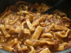 Joyously Domestic: Beef and Noodles - Using Homemade Egg Noodles
