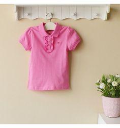 Mom and Bab Girls Pique Tee - Dark Pink - sadinashop.com  T-shirt atau kaos polo berkerah untuk bayi dan anak perempuan.