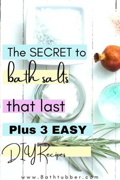 Discover the ingredient that will help your bath salts last longer. We'll explain when bath salts expire, how to package them for gifting and storage, and we'll give you 3 amazing bath salts recipes with essential oils. Bath salts. Bath salts recipe. Bath salts DIY. Bath salts with essential oils. Bath salts packaging. Bath Gift Basket, Gift Baskets, Relaxing Bath Recipes, Bath Benefits, Bath Salts Recipe, Natural Bath Bombs, Cedarwood Oil, Spa Like Bathroom, Diy Spa